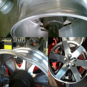 Alloy wheel dent repair