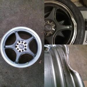 Wheel dent repair