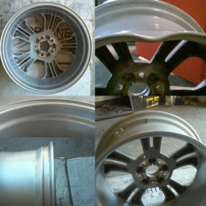 Alloy wheel crack repair